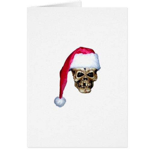 Skull Santa Greeting Card