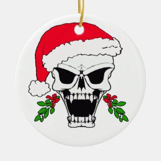 Skull santa ornaments