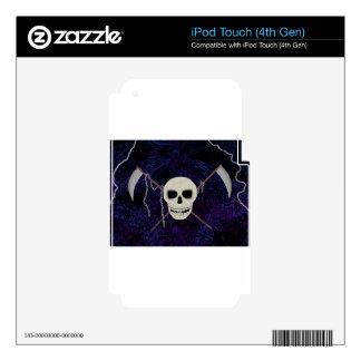 Skull & Scythes Skins For iPod Touch 4G