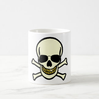 Skull & Shades Classic White Coffee Mug