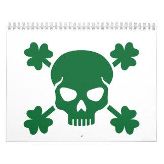 Skull shamrocks calendar