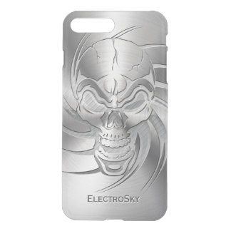 Skull Shape on Brushed Steel iPhone 7 Plus Case