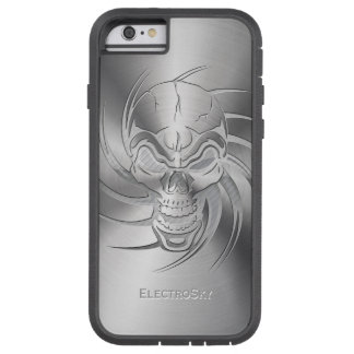 Skull Shape Print on Brushed Steel Tough Xtreme iPhone 6 Case