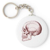 Skull Sid eRed Keychain