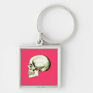 Skull Side Bronze Keychain