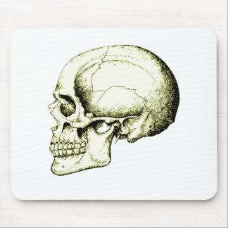 Skull Side Bronze Mouse Pad