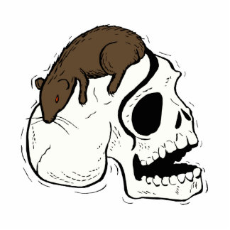skull side brown rat graphic photo cutouts