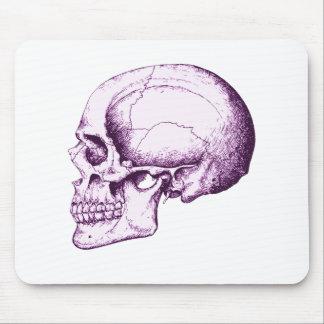 Skull Side Purple Mouse Pad