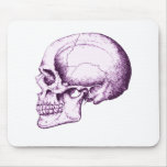 Skull Side Purple Mouse Pads