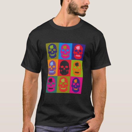 Skull Silk Screen -- Black T-Shirt