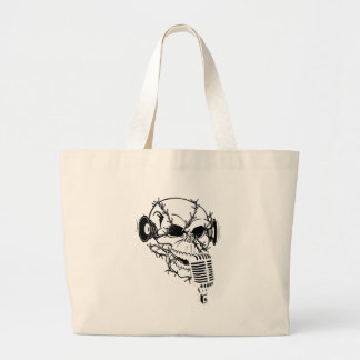 Skull Singing Americana Customizable Canvas Bags