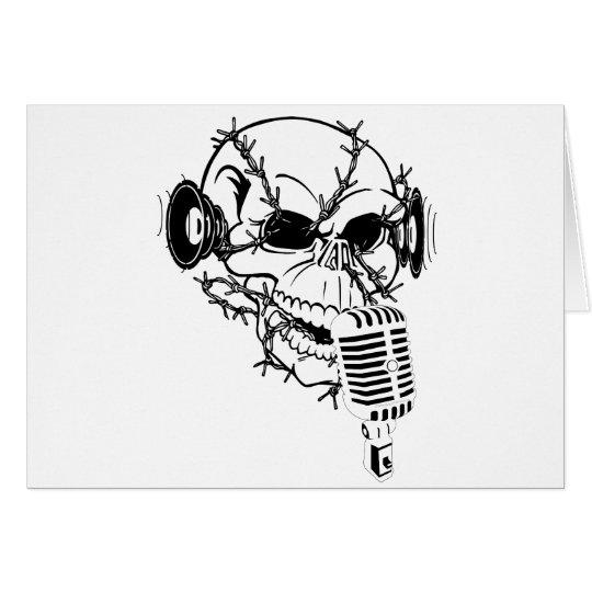 Skull Singing Americana Customizable Card