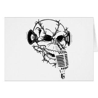 Skull Singing Americana Customizable Cards