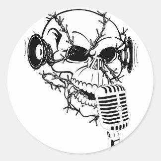 Skull Singing Americana Customizable Stickers