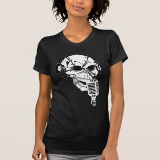 Skull Singing Americana Customizable Tees