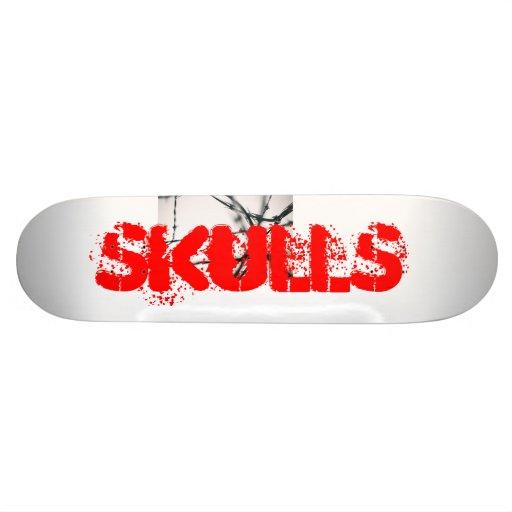 Skull skatebord custom skate board