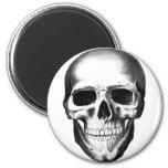 Skull Skeleton Head Scary Creepy Halloween 2 Inch Round Magnet