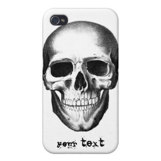 Skull Skeleton Head Scary Creepy Halloween Cover For iPhone 4