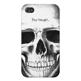 Skull Skeleton Head Scary Creepy Halloween iPhone 4/4S Case