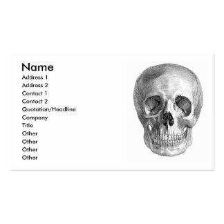 Skull Sketch perfect for Halloween party needs! Business Card