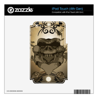 Skull iPod Touch 4G Decal