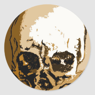 Skull Skulls Round Stickers