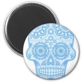 skull sky 2 inch round magnet