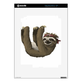 skull sloth decals for iPad 2
