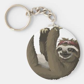 skull sloth keychain