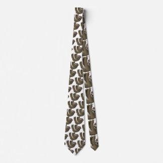skull sloth tie