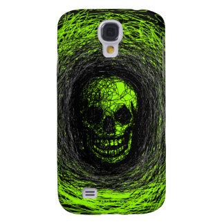 Skull Smile Scratch iPhone 3 Case Green