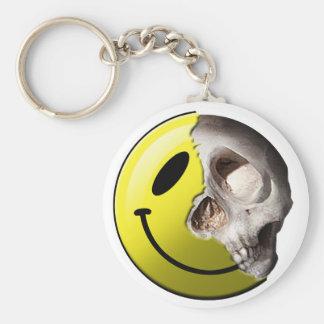 Skull smiley keychain