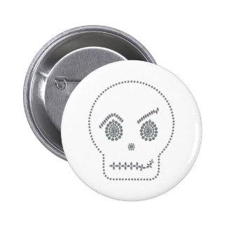 Skull Smirk Pins