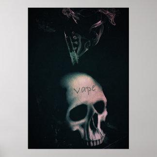 Skull Smoke Grunge VAPE Premium Poster
