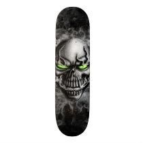 skull, skelleton, smoke, evil, face, creature, ghost, vape, gothic, dark, Skateboard with custom graphic design