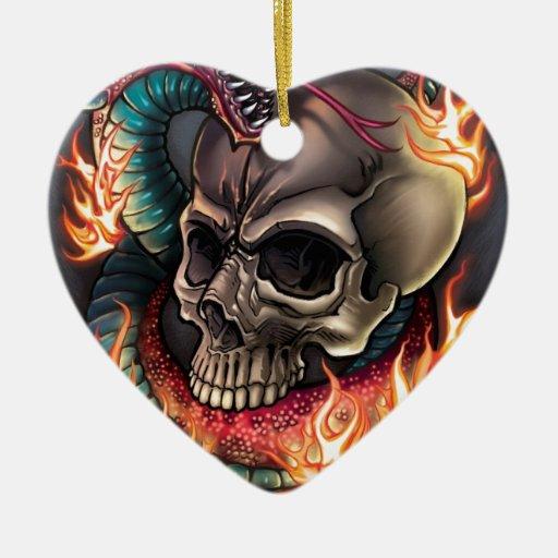 Skull + Snake Christmas Ornament