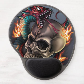 Skull + Snake Gel Mouse Pad