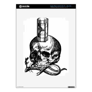 Skull Snake Hourglass Skins For iPad 3