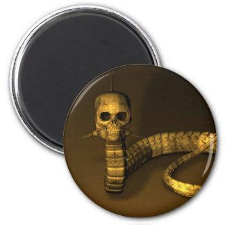 Skull Snake Magnet