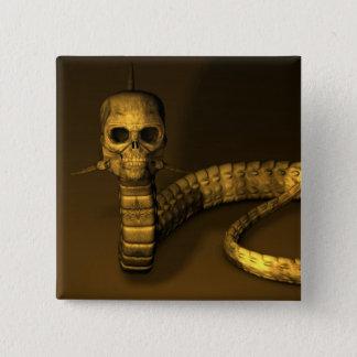 Skull Snake Pinback Button