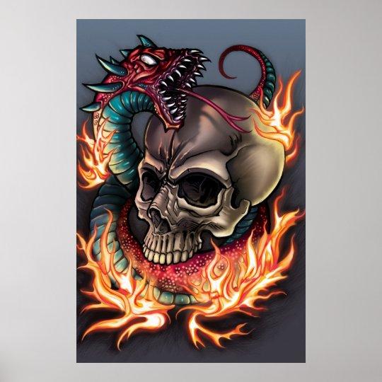 Skull + Snake Poster