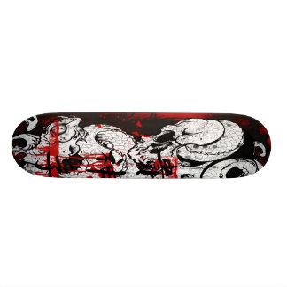 skull snake skateboard deck