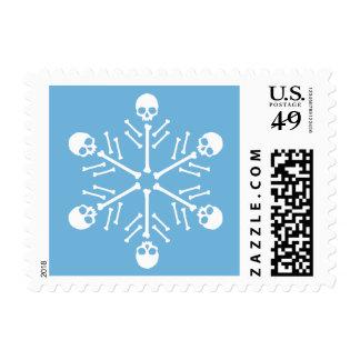 Skull Snowflakes Postage Stamp