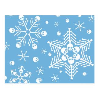 Skull Snowflakes Postcard