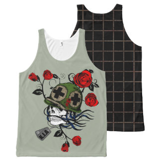 Skull Soldier - Killed in Action All-Over Print Tank Top