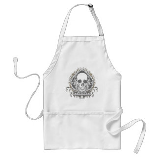 Skull Spade with gold Adult Apron