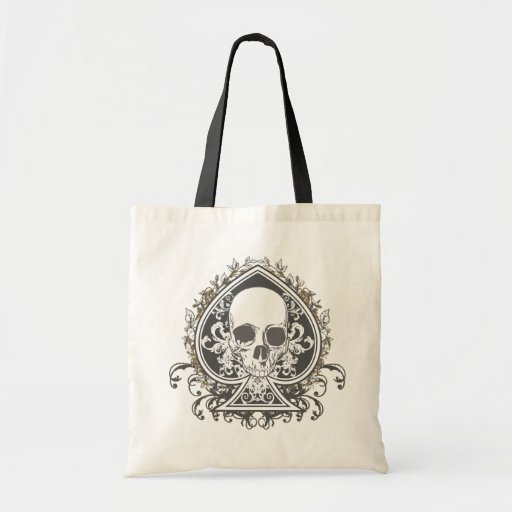 Skull Spade with gold Bag