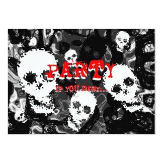 Skull Spectres B&W 'Party..if you dare' invitation