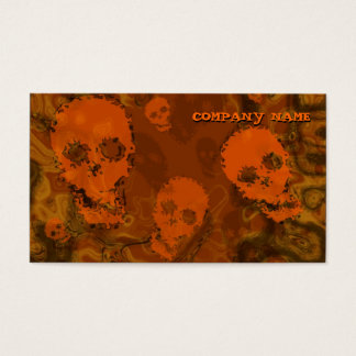 Skull Spectres Orange horizontal orange Business Card