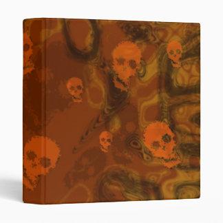 Skull Spectres Orange (small skull) binder